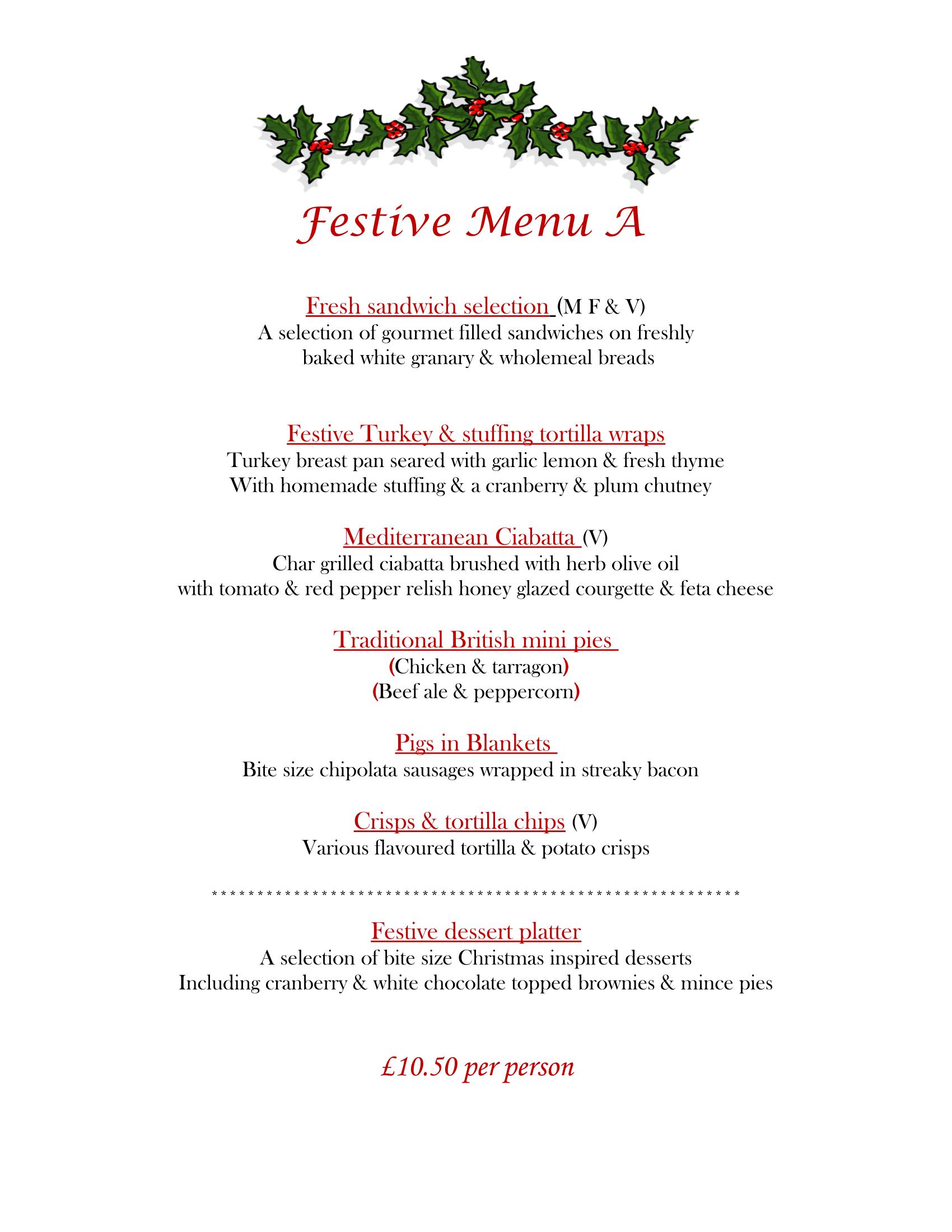 Festive Menu A