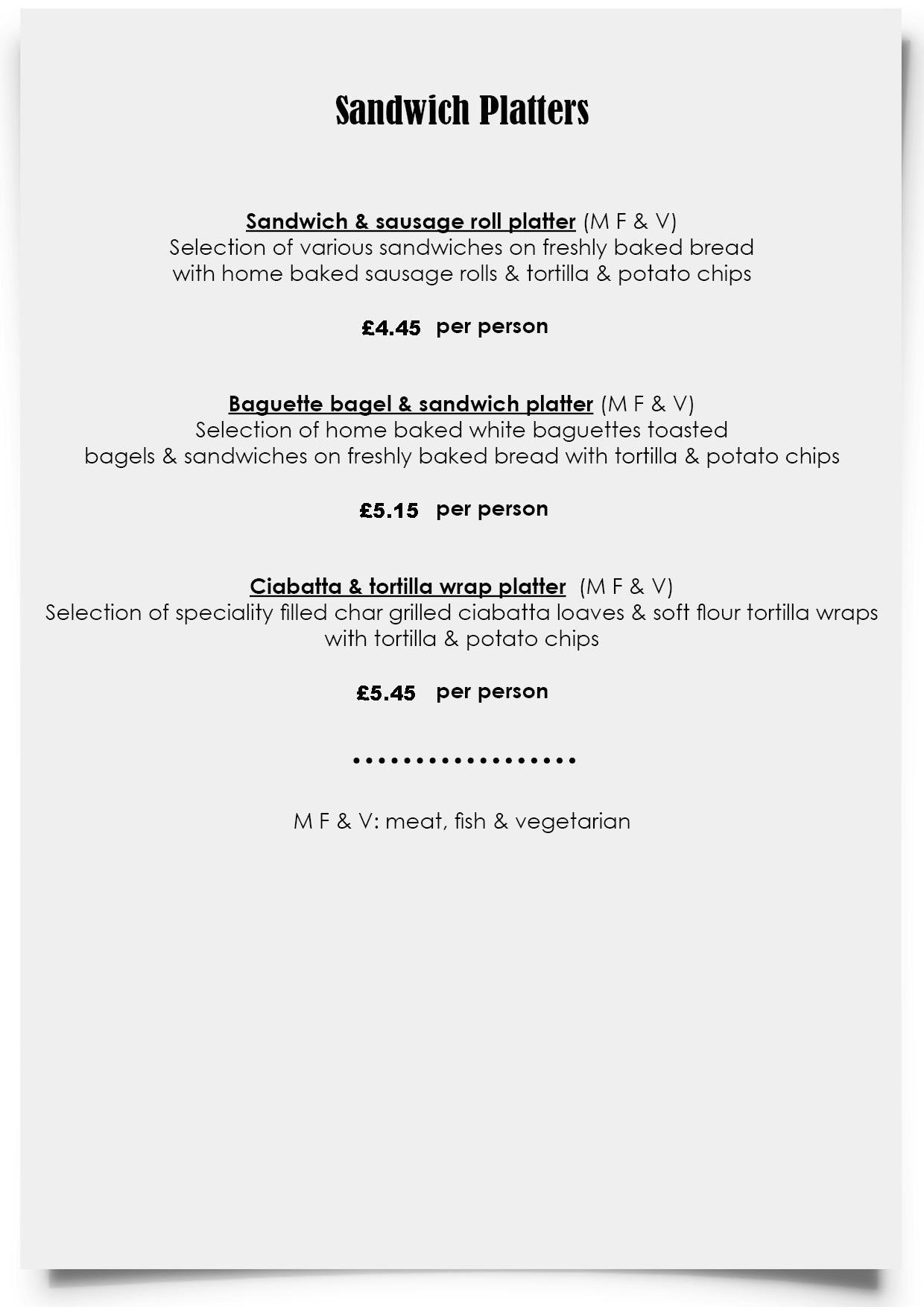 Dylan Jack's Catering, Burton - Sandwich Platters